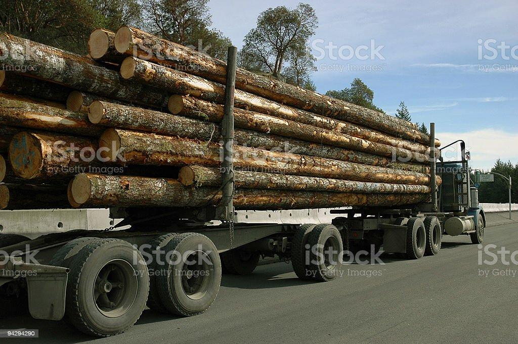 Logging truck stock photo