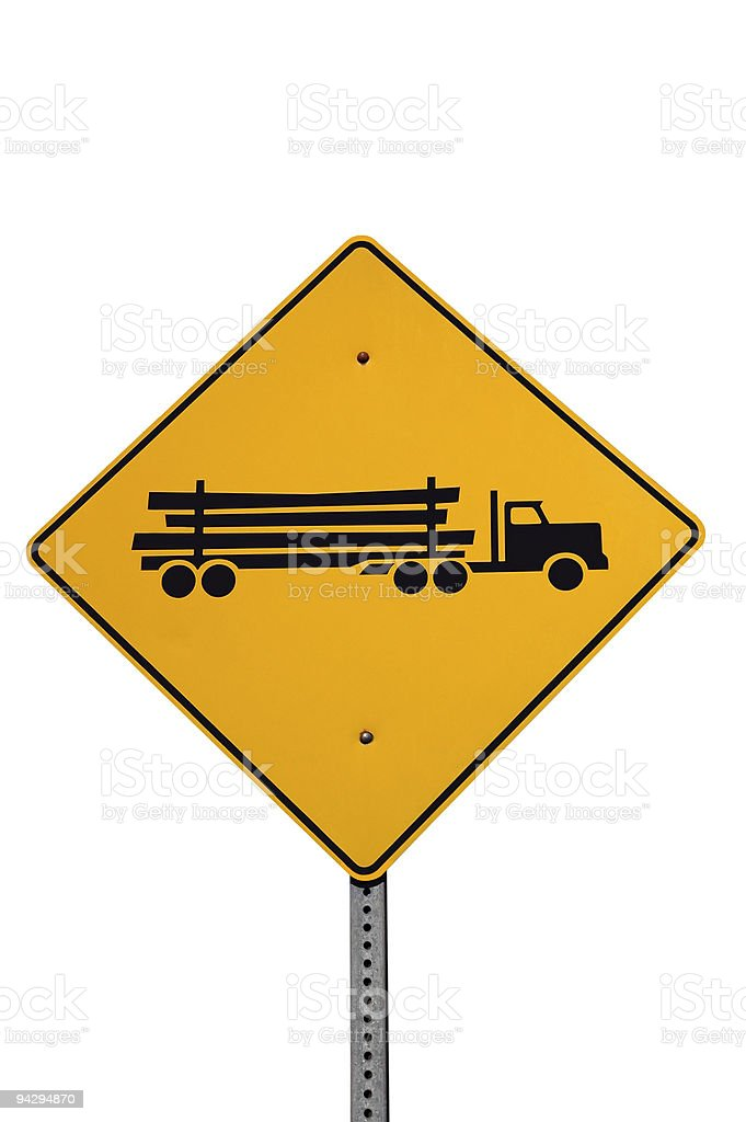 Logging truck sign* royalty-free stock photo