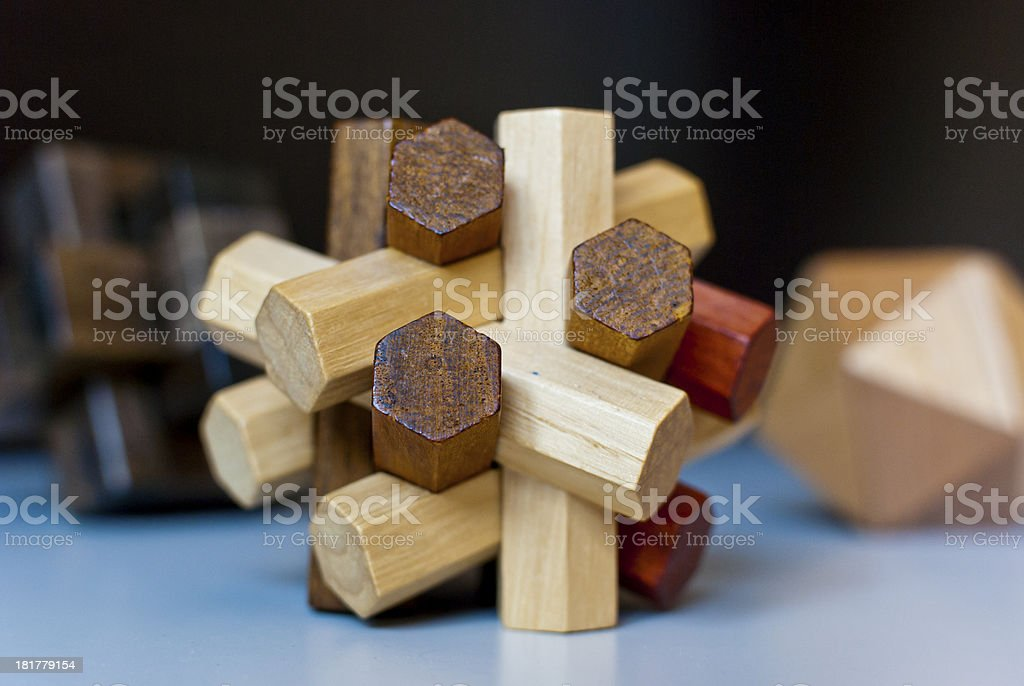 Logical tricky wooden toys royalty-free stock photo