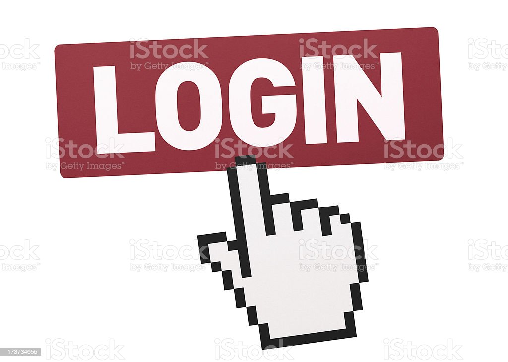 Login Button royalty-free stock photo