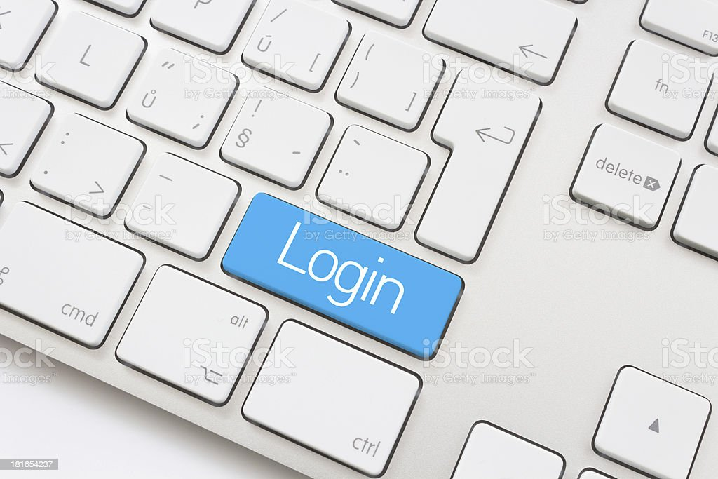 Login key stock photo