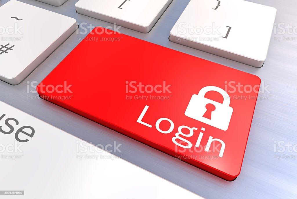 Login Keyboard Concept stock photo