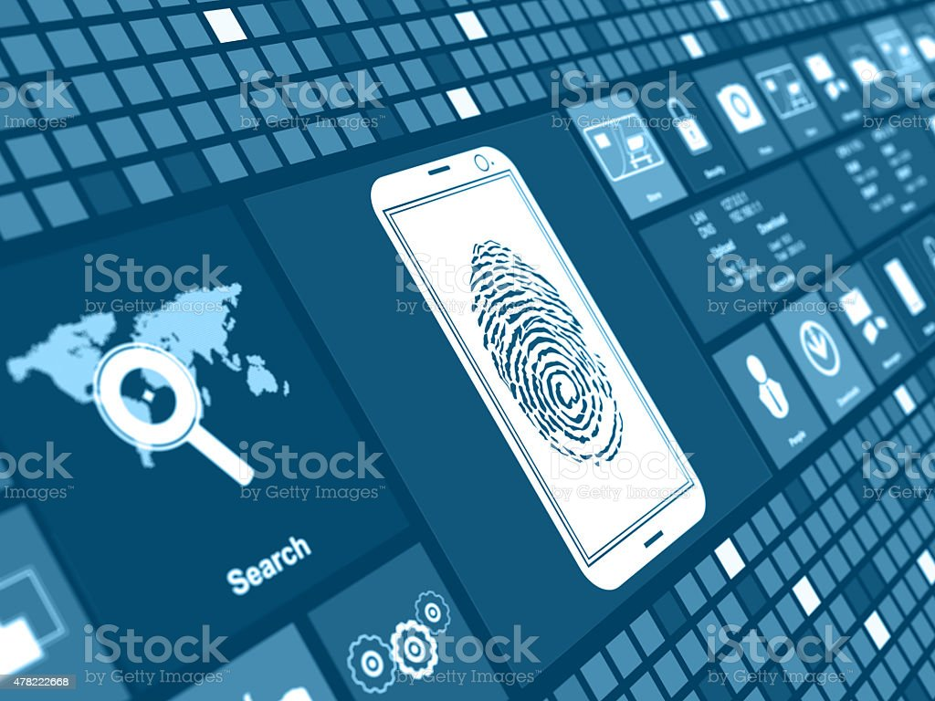 Login mobile stock photo