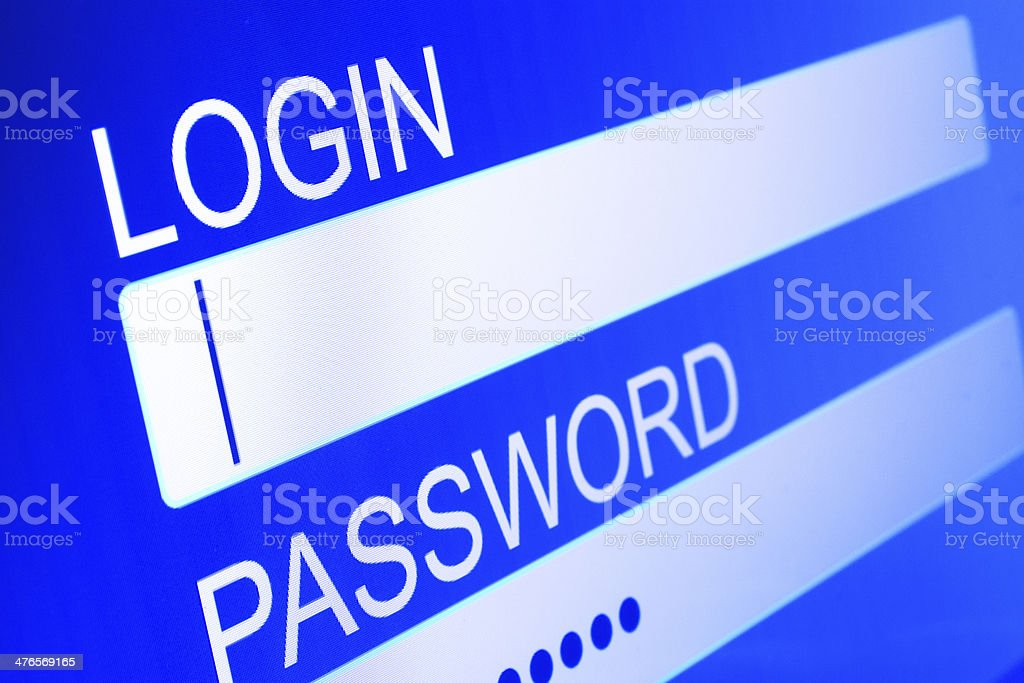 Login royalty-free stock photo