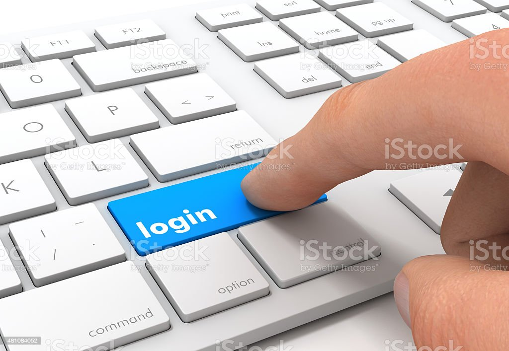 login stock photo