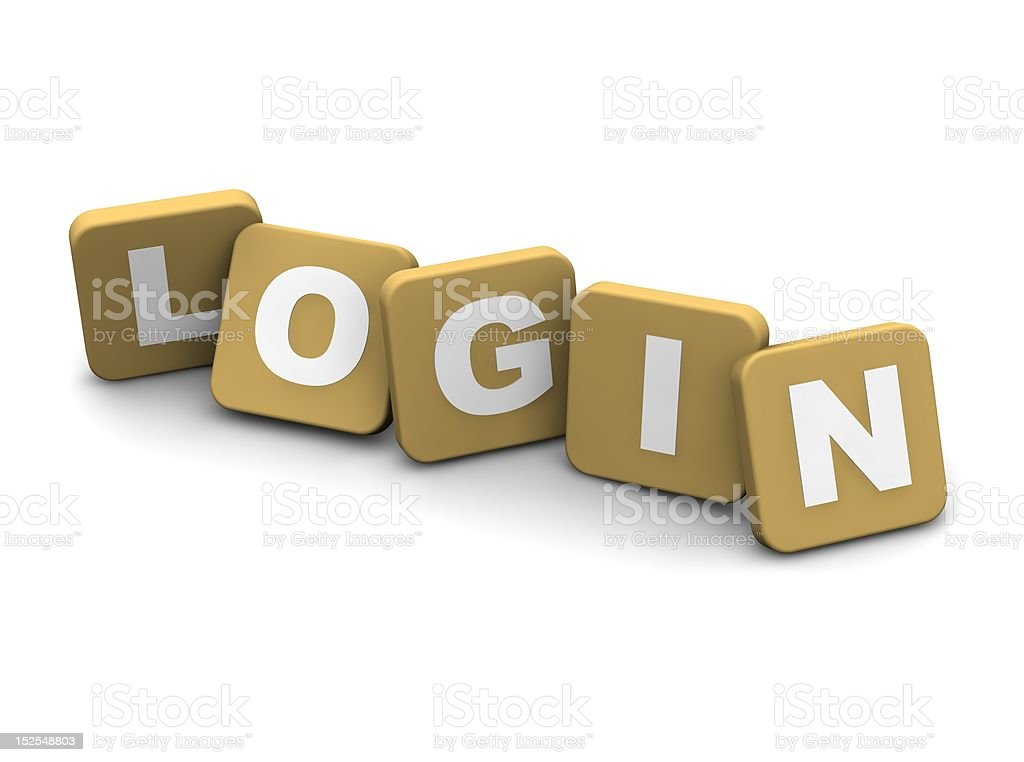 Login text stock photo
