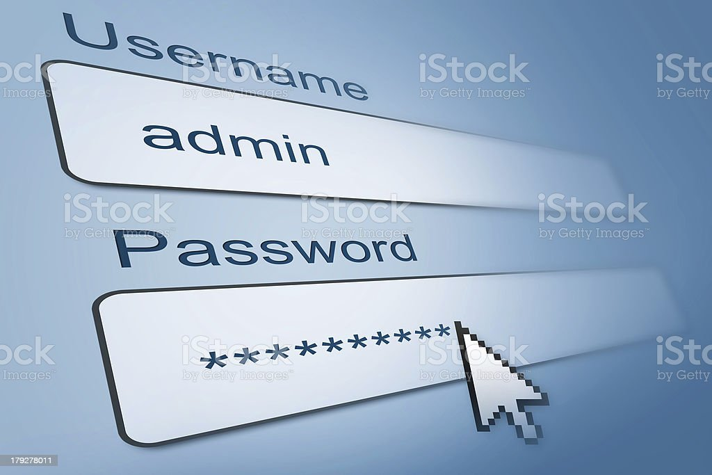 login with username and password in internet browser royalty-free stock photo