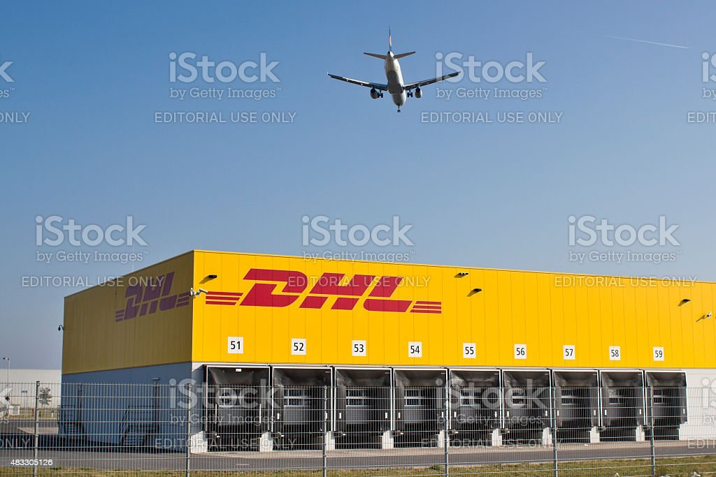 DHL logistic and distribution hub, Logistikzentrum stock photo