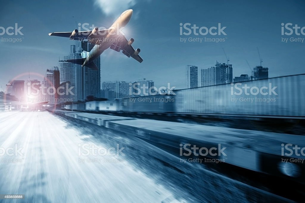 logistic and transportation industry background stock photo