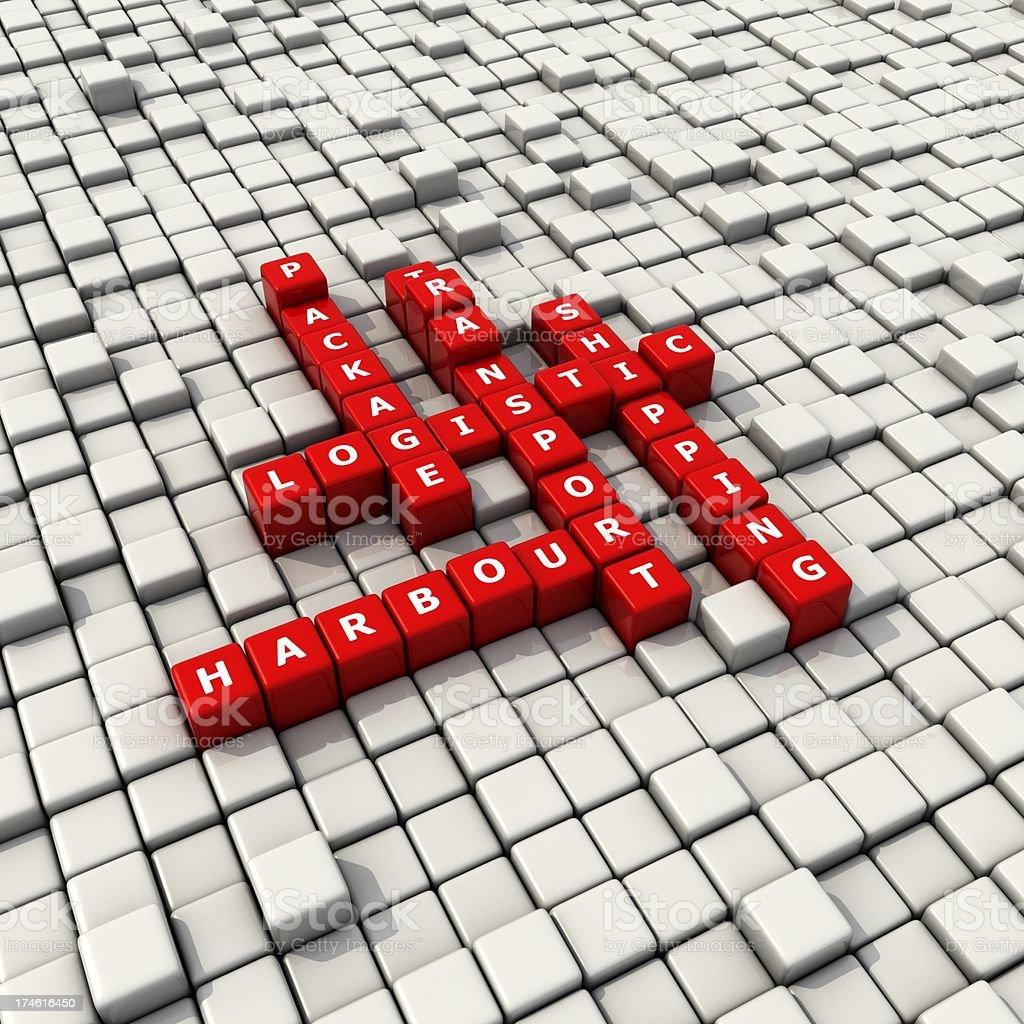 logistic convex blocks crossword royalty-free stock photo
