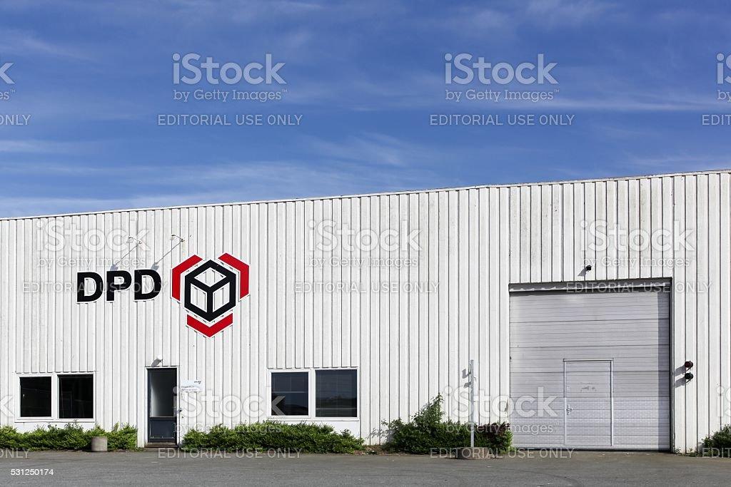 DPD logistic depot stock photo
