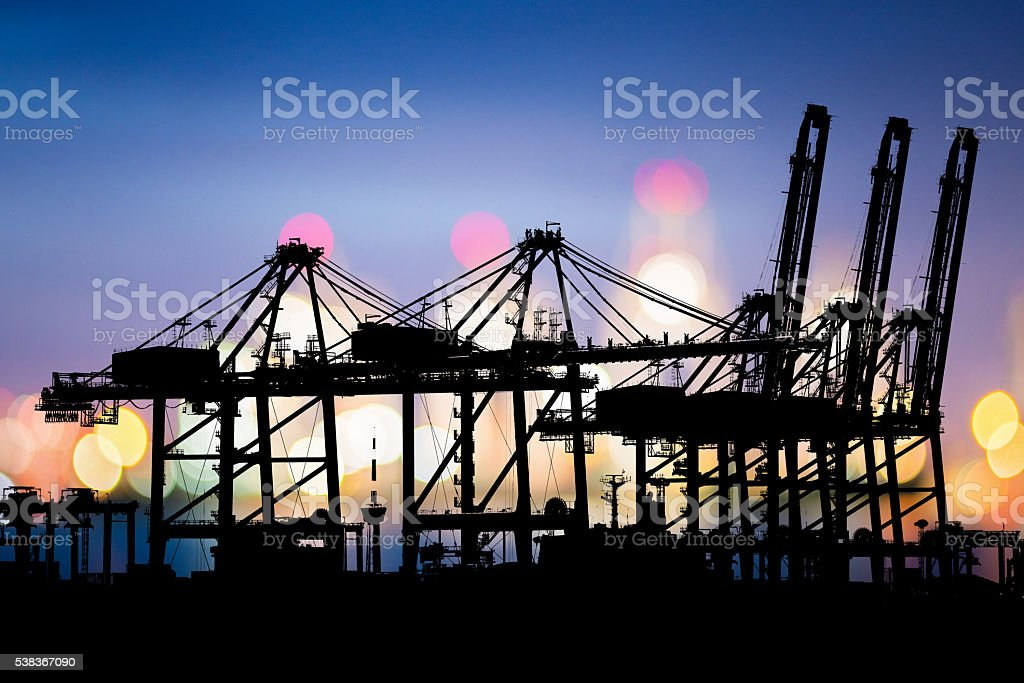 Logistic Import Export background. Industrial Container Cargo freight ship. stock photo