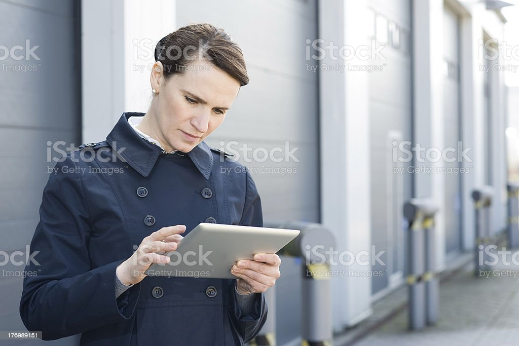 Logistic manager royalty-free stock photo