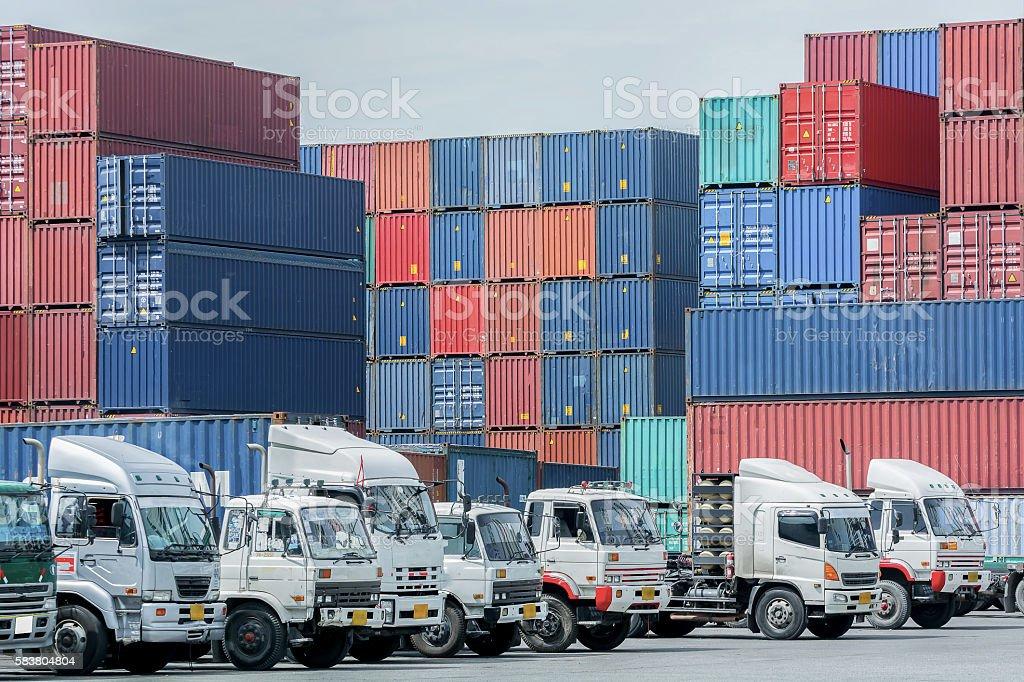 logistics background stock photo