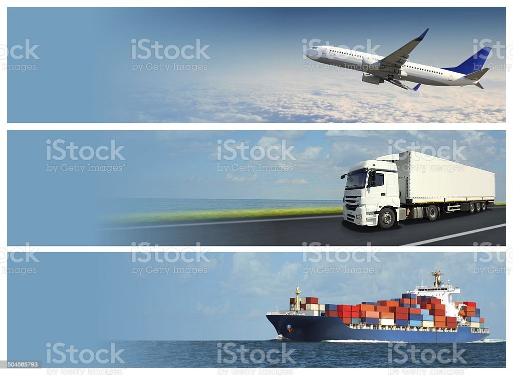 Logistics Banners stock photo