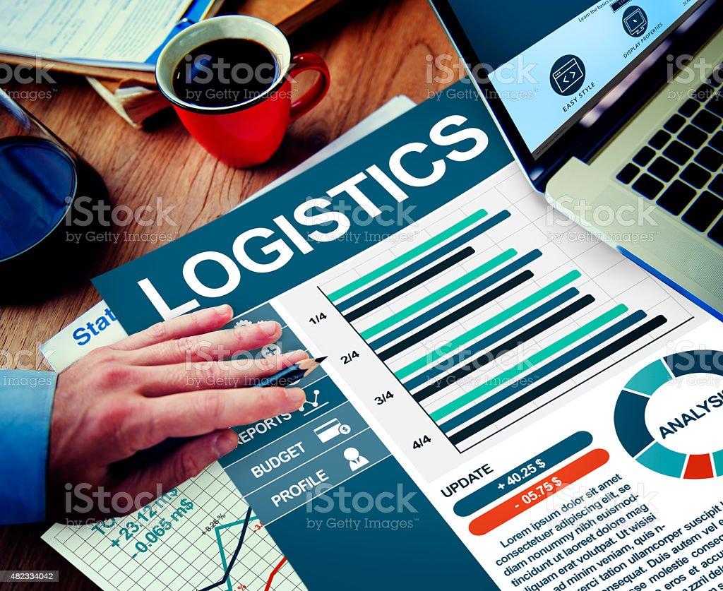 Logistics Businessman Working Calculating Thinking Planning Pape stock photo