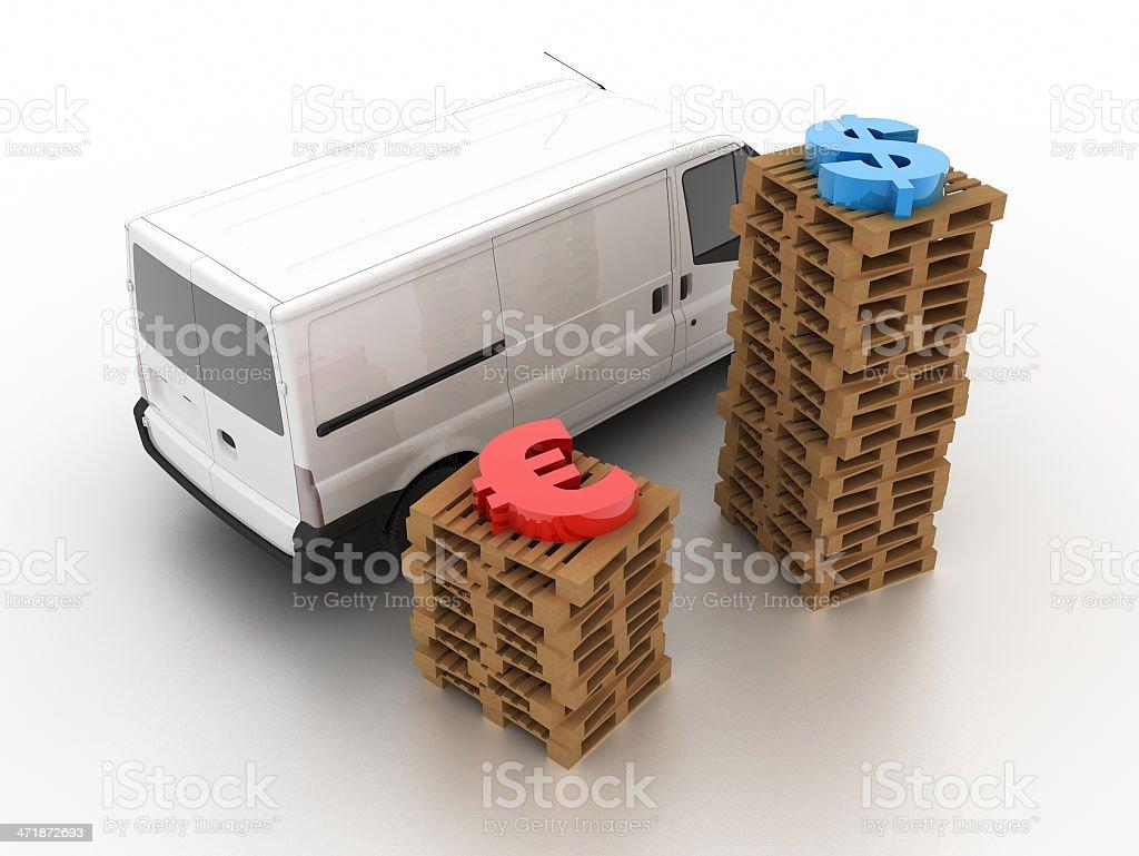 Logistics concept royalty-free stock photo