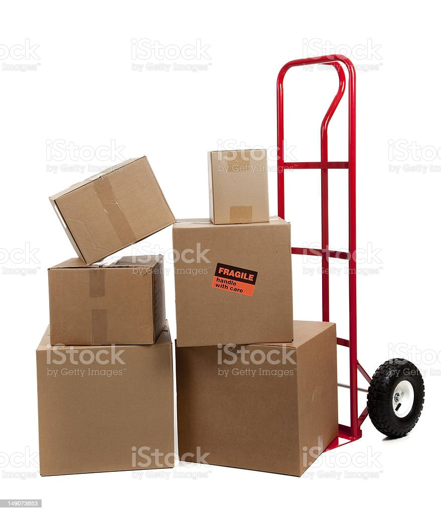 Logistics equipment onn white stock photo