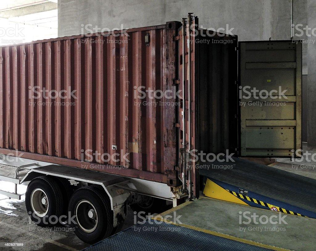 Logistics Industry - Loading Bay at Warehouse stock photo