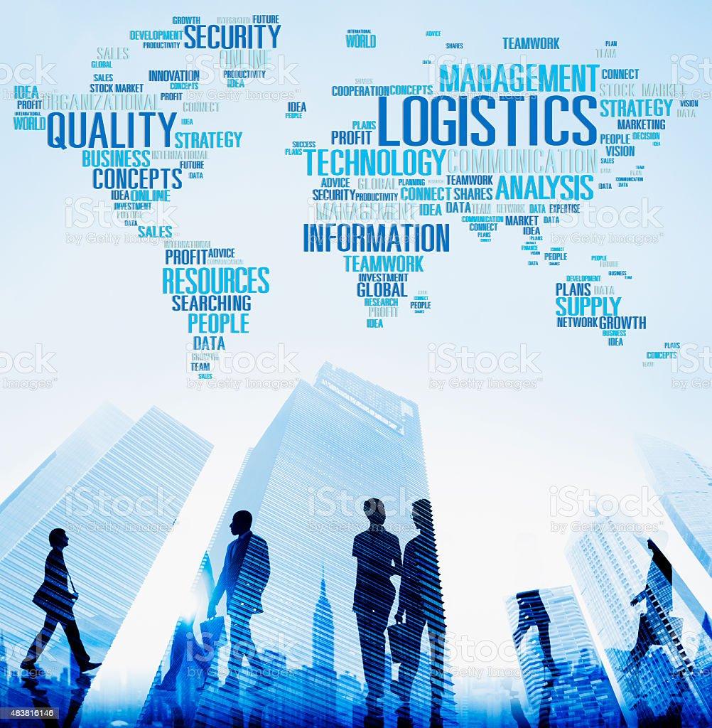 Logistics Management Freight Service Production Concept stock photo