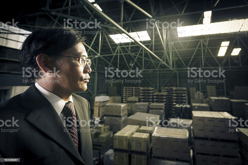 Logistics Manager Warehouse Business Portrait royalty-free stock photo