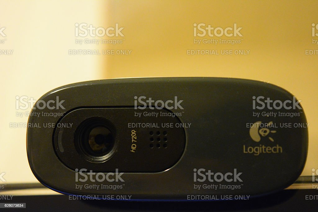 Logitech webcam stock photo