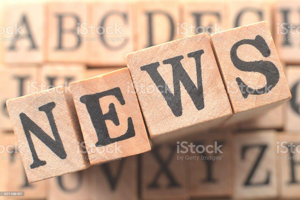 Logo for NEWS stock photo