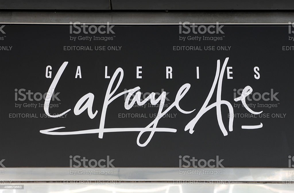 logo of french department store chain Galeries Lafayette stock photo