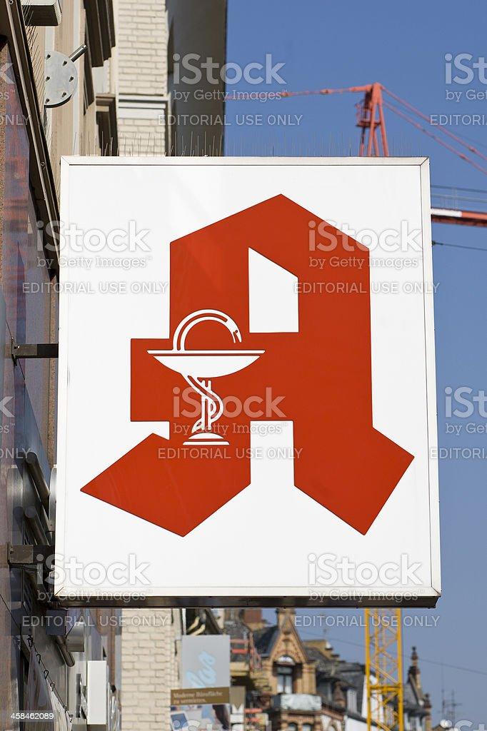Logo of german pharmacy stock photo