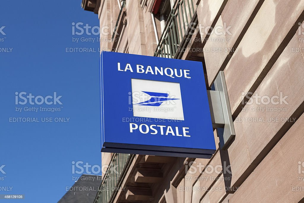 Logo of the french Banque Postale stock photo