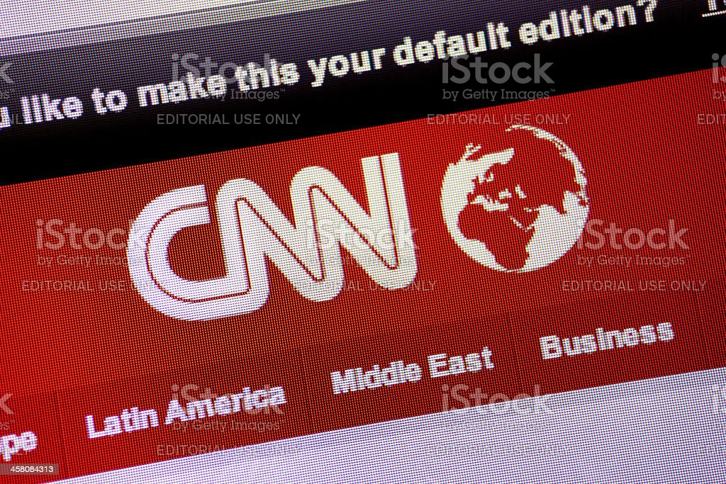 CNN logo on website stock photo