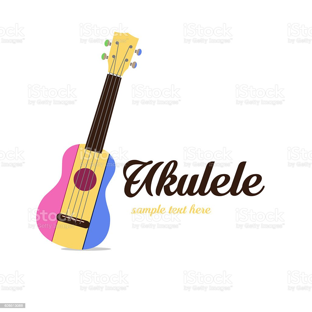 Logo ukulele colors stock photo