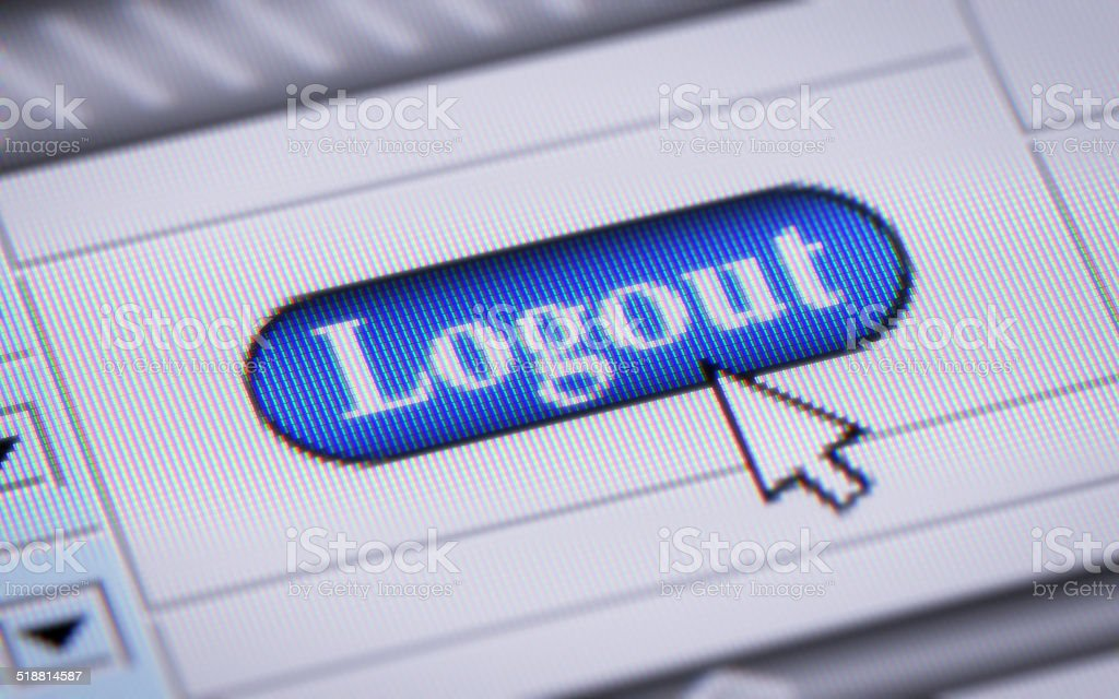 Logout stock photo