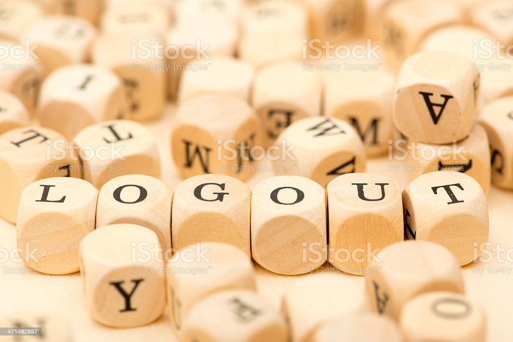 logout word stock photo