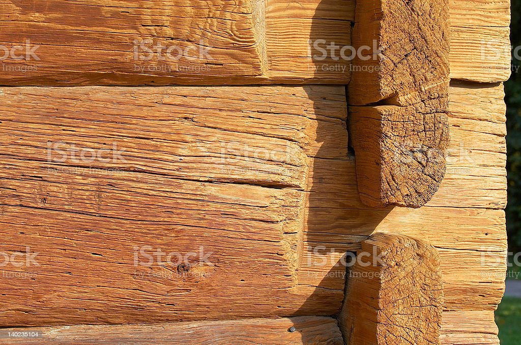 logs in the wall #79 royalty-free stock photo
