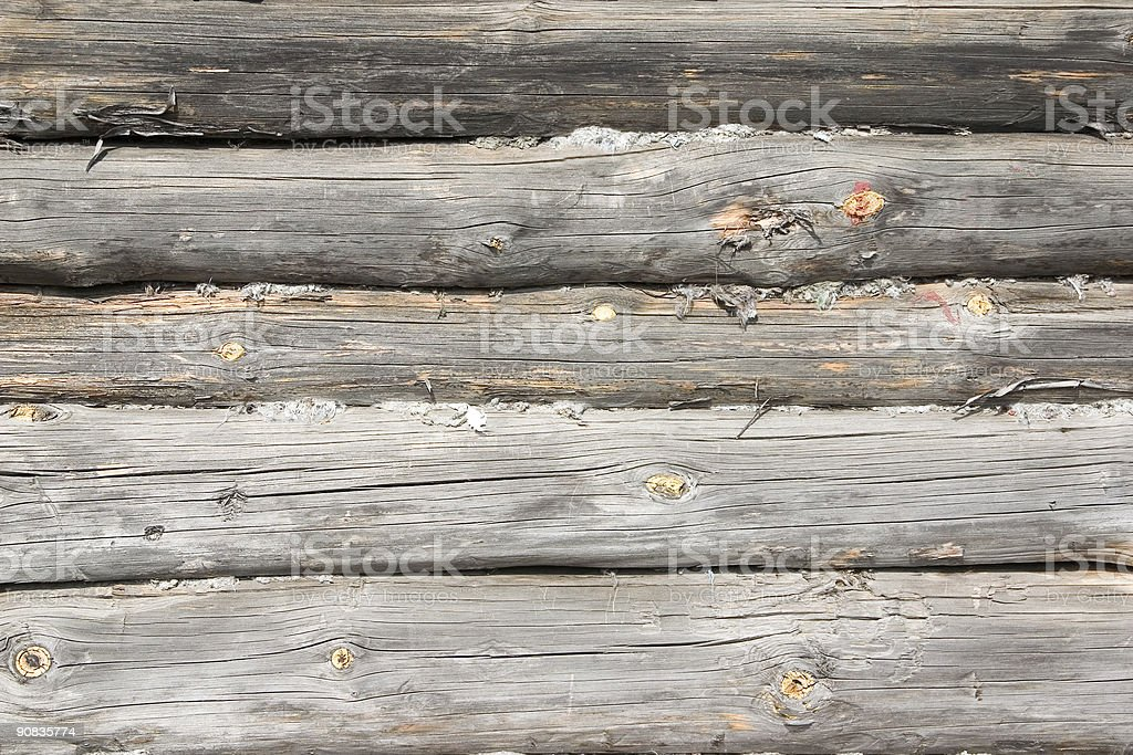 Logs in the wall royalty-free stock photo