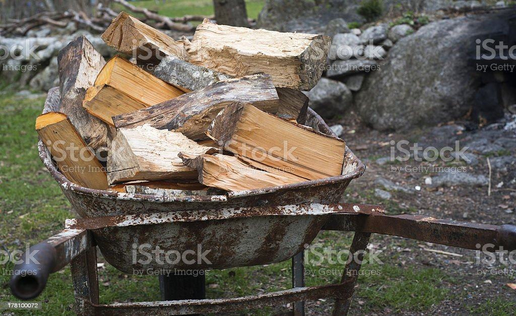 Logs of Firewood royalty-free stock photo