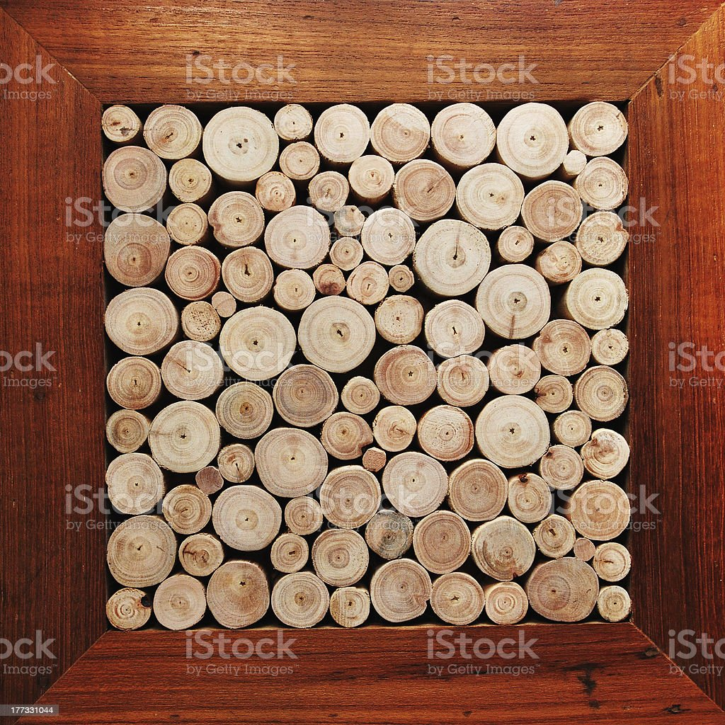 Logs Wood Background stock photo