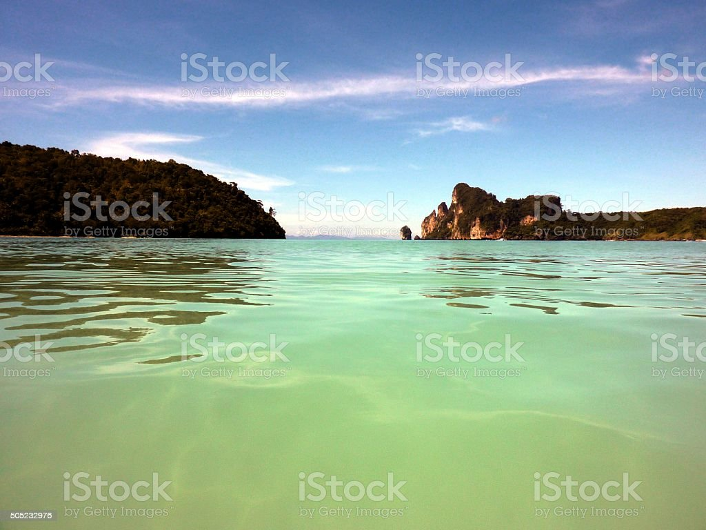 Loh Dalum bay, PhiPhi Don island, Thailand stock photo