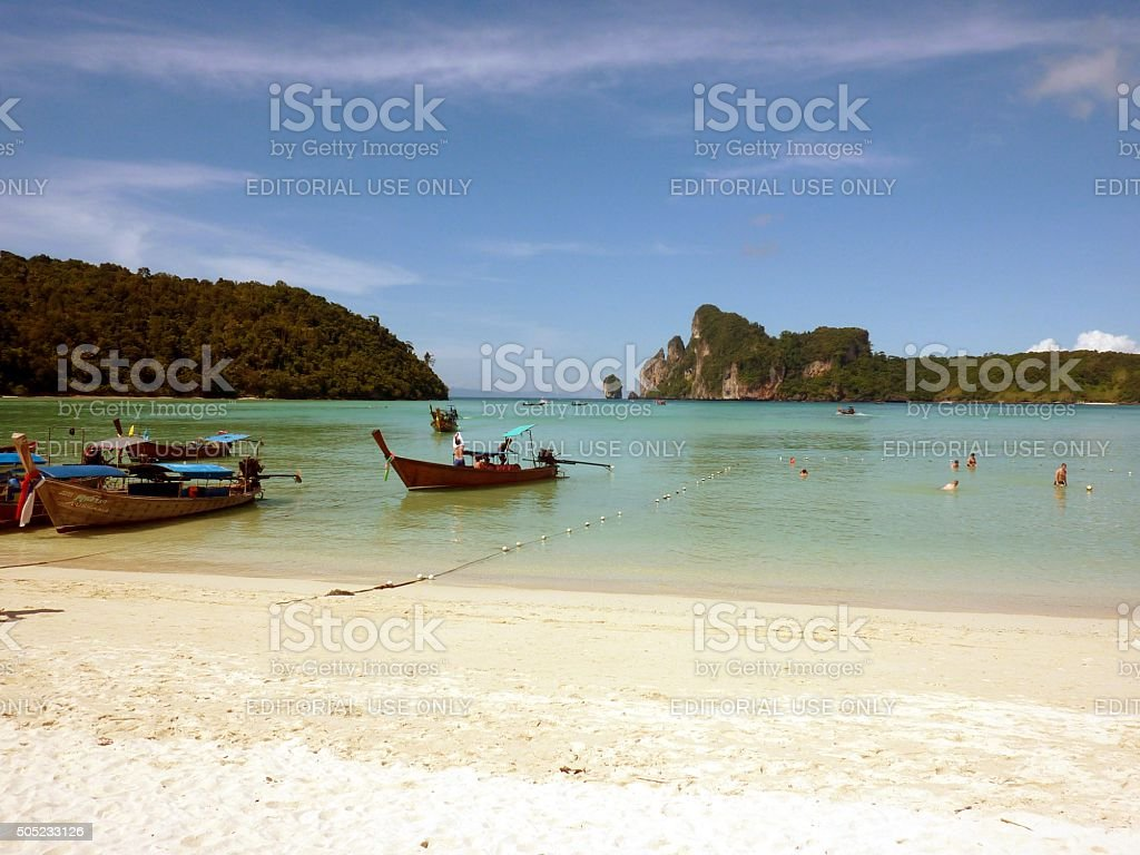 Loh Dalum beach, PhiPhi Don island, Thailand stock photo