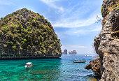 Loh samah bay at phi phi island Thailand.