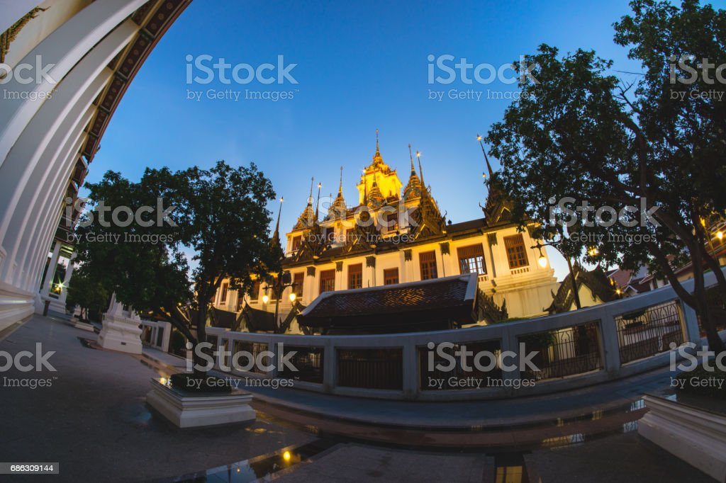 Loha Prasart at Ratchanatda Temple stock photo