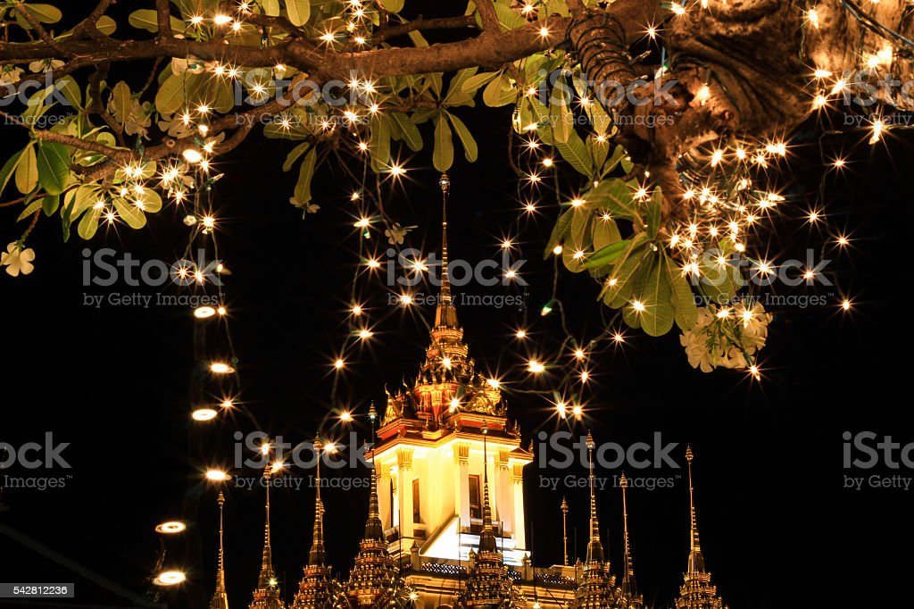 Loha Prasat during His Majesty the King's birthday celebration. stock photo