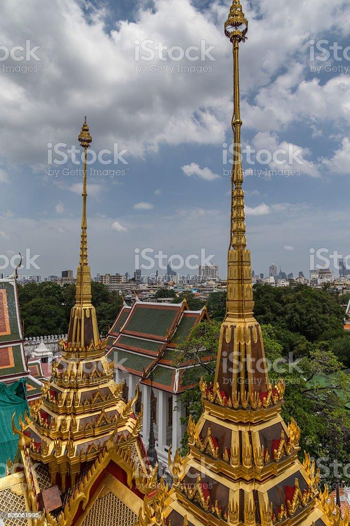 Loha Prasat temple stock photo