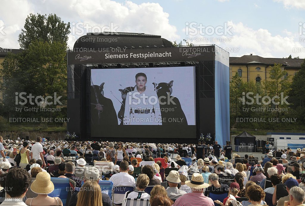 Lohengrin Bayreuth public viewing royalty-free stock photo