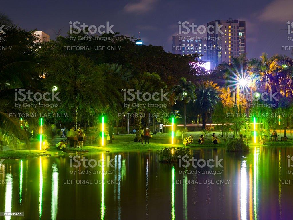 Loi Krathong Festival in Bangkok, Thailand stock photo