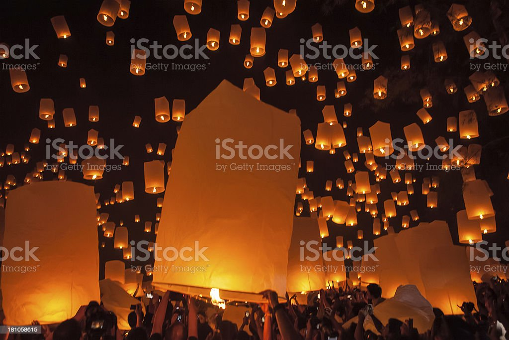 Loi Krathong Festival royalty-free stock photo