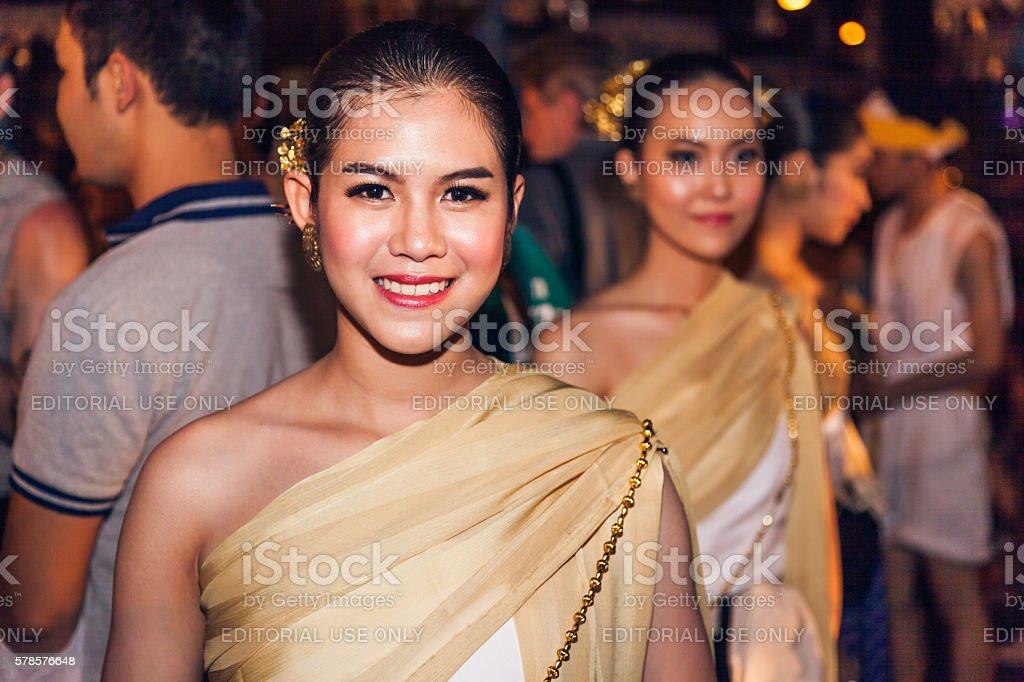 Loi Krathong festival stock photo
