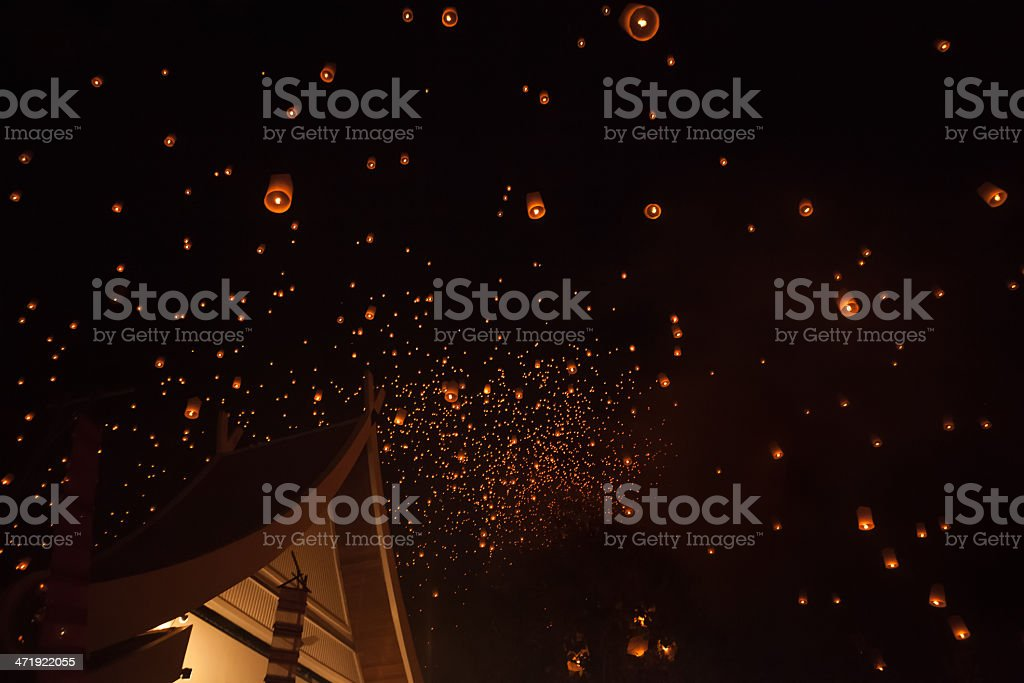Loi Krathong Lanterns stock photo