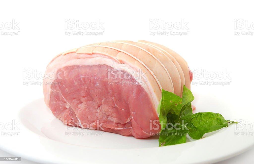 Loin of pork stock photo